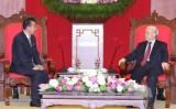 Tổng Bí thư Nguyễn Phú Trọng tiếp Đại sứ CHDCND Triều Tiên