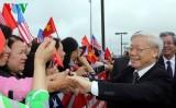 Tổng Bí thư Nguyễn Phú Trọng tới thủ đô Washington DC