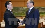 Chủ tịch Quốc hội Nguyễn Sinh Hùng tiếp Thủ tướng Lào Thammavong