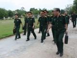 Trung tướng Lê Chiêm - Phó Tổng Tham mưu trưởng QĐND Việt Nam: Thăm và làm việc với lực lượng vũ trang Long An