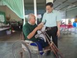 Thăm Trung tâm Bảo trợ xã hội và thương binh nặng tại xã Nhị Thành
