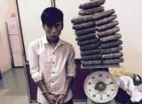 """18 tuổi thuê taxi """"ôm"""" 20 bánh cần sa từ Vinh ra Hà Nội"""