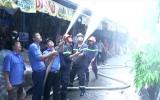 TP.Tân An tổ chức diễn tập phòng cháy chữa cháy