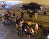 Đi ngược chiều trong hầm Kim Liên, nam thanh niên tông người nguy kịch