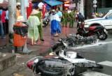 Ô tô điên đâm liên hoàn nhiều xe máy, ít nhất 4 người bị thương