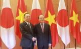 Chủ tịch QH Nguyễn Sinh Hùng hội đàm với Chủ tịch Thượng viện Nhật Bản