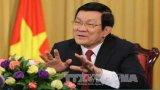 Chủ tịch nước Trương Tấn Sang trả lời báo chí trước thềm năm mới
