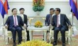 Bộ trưởng Bộ Công an Tô Lâm thăm và làm việc tại Campuchia