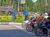 Long An: Đoàn thanh niên tham gia giữ gìn trật tự, an toàn giao thông