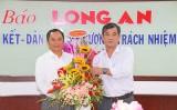Huyện Thạnh Hóa, Viettel Long An chúc mừng Báo Long An