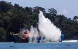Indonesia đánh chìm 71 tàu cá nước ngoài nhân 71 năm Quốc khánh