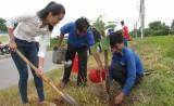 Đoàn Thanh niên tỉnh Long An trồng 200 cây xanh tại phường Khánh Hậu