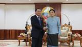 Chủ tịch Quốc hội Lào tiếp Phó Chủ tịch Quốc hội Đỗ Bá Tỵ