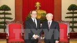 Tổng Bí thư Nguyễn Phú Trọng tiếp Tổng thống Pháp Hollande