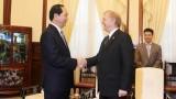 Chủ tịch nước Trần Đại Quang tiếp Đại sứ Canada David Devine