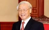 Tổng Bí thư tiếp Tổng Thư ký Đảng Dân chủ Tự do Nhật Bản