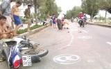 Vượt xe tải gây tai nạn