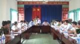 Đoàn Đại biểu Quốc hội khảo sát việc thực hiện chính sách, pháp lệnh về công an xã tại huyện Đức Hòa