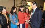 Chủ tịch nước thăm Đại sứ quán Việt Nam tại Italy