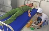 Thanh niên Công an tỉnh Long An tình nguyện hiến 80 đơn vị máu