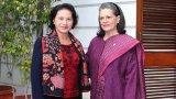 Chủ tịch Quốc hội gặp Chủ tịch Đảng Quốc đại Ấn Độ