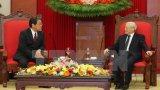 Tổng Bí thư Nguyễn Phú Trọng tiếp Đại sứ Nhật Bản Umeda Kunio