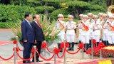 Hình ảnh Lễ đón Thủ tướng Hun Sen thăm chính thức Việt Nam