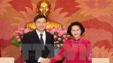 Chủ tịch Quốc hội Nguyễn Thị Kim Ngân tiếp Đại sứ Hàn Quốc và Iran