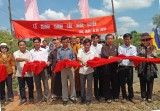 Hội từ thiện chùa Bát Nhã hỗ trợ xây cầu giao thông nông thôn ở Tân Thạnh