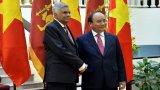 Thủ tướng chủ trì lễ đón và hội đàm với Thủ tướng Sri Lanka
