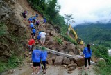 Mưa lớn gây sạt lở ở Lai Châu, hai người bị đất đá vùi lấp