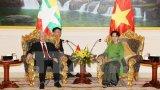 Tổng Bí thư hội kiến với Cố vấn Nhà nước Myanmar Aung San Suu Kyi
