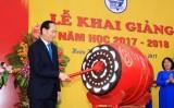 Chủ tịch nước Trần Đại Quang dự Lễ khai giảng Trường THCS Trưng Vương