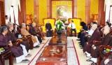 Tân Ban Trị sự Giáo hội Phật giáo tỉnh Long An gặp gỡ lãnh đạo tỉnh