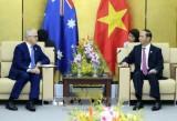 Chủ tịch nước Trần Đại Quang gặp Thủ tướng Australia Malcolm Turnbull