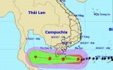 Bão Tembin hướng vào Côn Đảo, đang suy yếu dần