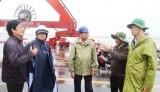 Chủ tịch UBND tỉnh -  Trần Văn Cần kiểm tra công tác ứng phó với bão Tembin