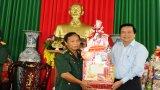 Bí thư Tỉnh ủy, Chủ tịch HĐND tỉnh - Phạm Văn Rạnh chúc Tết các đơn vị làm nhiệm vụ trên tuyến biên giới