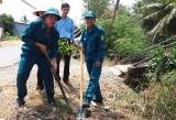 Long Trì: Ra quân trồng 1.100 cây hoa Hoàng Yến