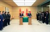 Chủ tịch nước Trần Đại Quang và Thủ tướng Nhật Bản Shinzo họp báo