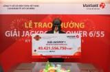 Nữ nhân viên ngân hàng lĩnh giải Jackpot 1 hơn 40 tỉ đồng