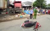 Xe container đâm vào nhà dân, 1 người chết, 5 người bị thương