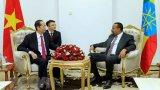 Chủ tịch nước Trần Đại Quang hội kiến với Thủ tướng Ethiopia