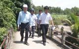 Nguyên Chủ tịch nước Trương Tấn Sang khảo sát cầu giao thông nông thôn xuống cấp