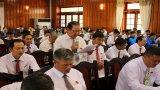 Chủ tịch UBND tỉnh Long An - Trần Văn Cần đối thoại với nông dân về kinh tế hợp tác