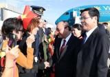 Thủ tướng Nguyễn Xuân Phúc đến Brussels, bắt đầu tham dự ASEM 12