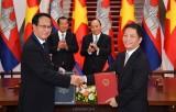 Kết thúc đàm phán Hiệp định Thương mại biên giới Việt Nam-Campuchia