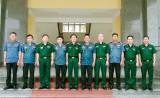 Hiến binh tỉnh Svay Rieng thăm và chúc tết Bộ đội Biên phòng tỉnh
