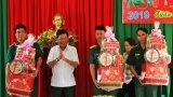 Chủ tịch UBND tỉnh Long An - Trần Văn Cần thăm, chúc tết lực lượng làm nhiệm vụ tại Vĩnh Hưng