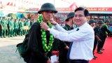 Các địa phương trong tỉnh Long An tiễn tân binh lên đường nhập ngũ 2019
